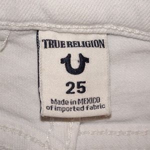 True Religion Shorts - True Religion Joey Cutoff | White | EUC | 25